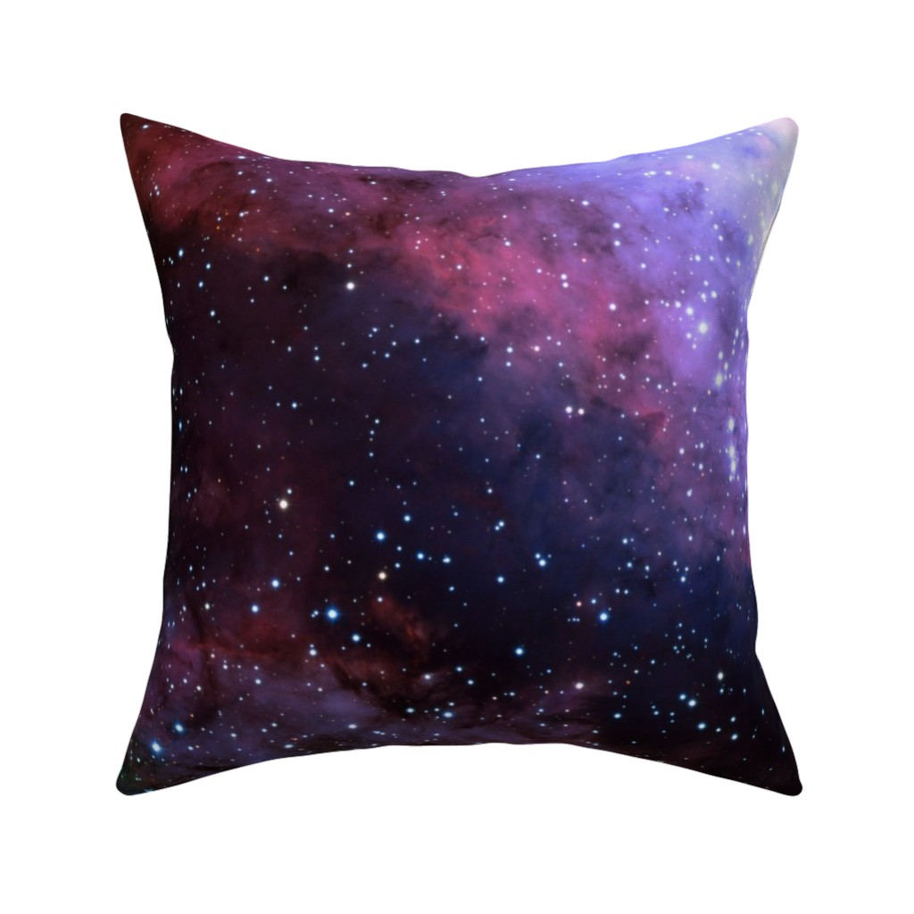 Catalan Throw Pillow featuring Carina Nebula (edited, blue) by azizakadyri