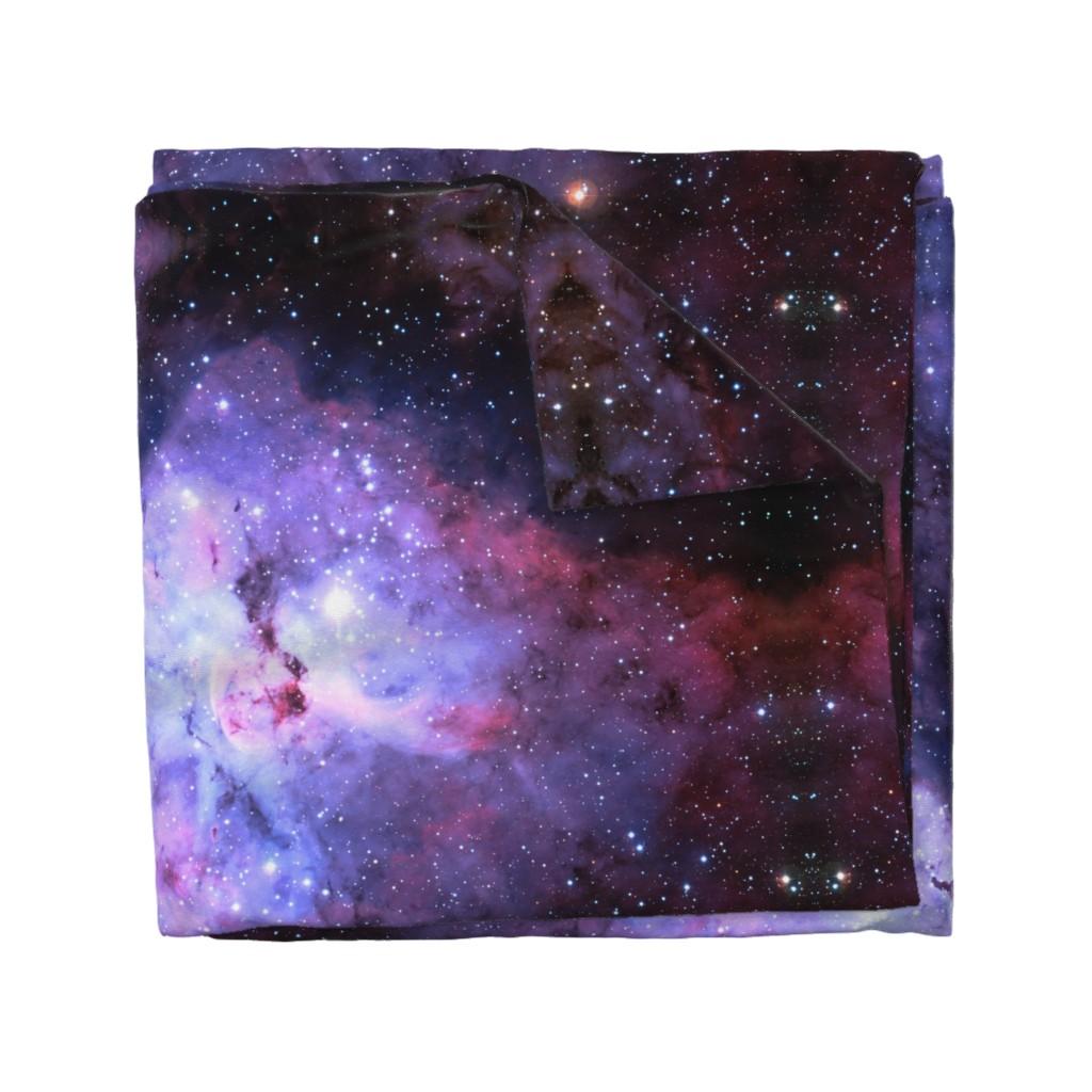 Wyandotte Duvet Cover featuring Carina Nebula (edited, blue) by azizakadyri
