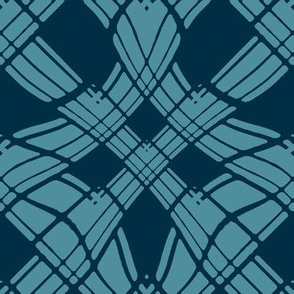 Large - Woven Ribbon in Two Tone Teal