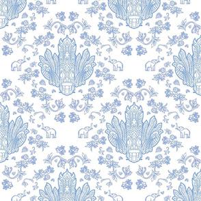 Mayura Raksha Blue on White