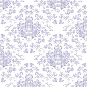 Mayura Raksha White on Purple
