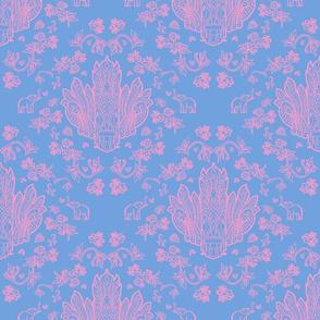 Mayura Raksha Pink on Blue