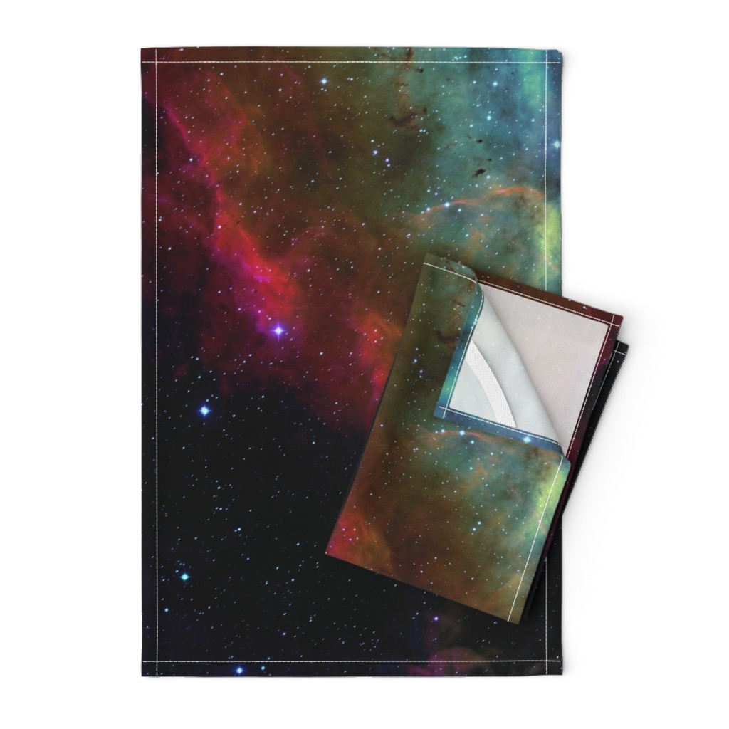 Orpington Tea Towels featuring the Rosette Nebula (edited) by azizakadyri