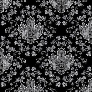 Mayura Raksha White on Black
