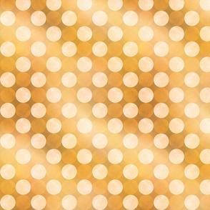 Bokeh Dots Gold