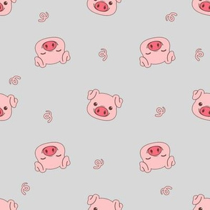 Cute Pig Faces and Tails