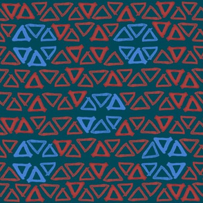 triangle pattern with circles 2