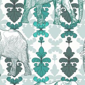 Elephants of Damask large