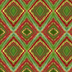 Green Red Yellow Diamond Pattern