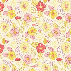 Daisy Days Light Floral