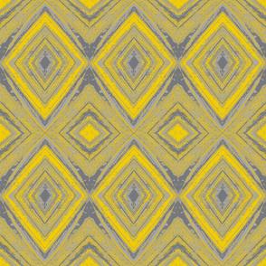 Gray and Yellow Diamonds