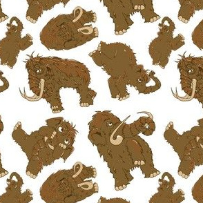 Mammoth pattern-sticker