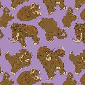 Mammoth pattern-purple
