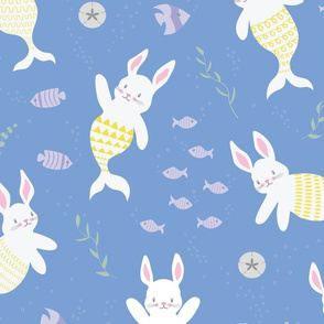 Merbunnies Merbunny Mermaid Bunnies Rabbits Bunny - Large Scale
