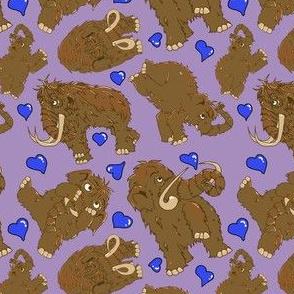 Mammoth pattern-valentine purples