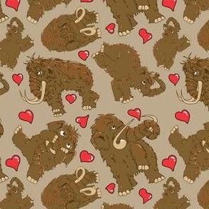 Mammoth pattern-valentine