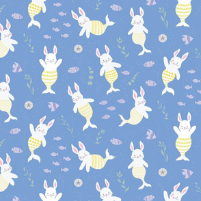 Merbunnies Merbunny Mermaid Bunnies Rabbits Bunny -Medium Scale