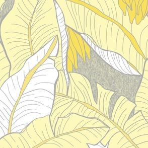 Tropical Banana Grove-yellow-white