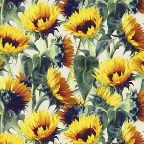 Sunflowers Forever - extra small print