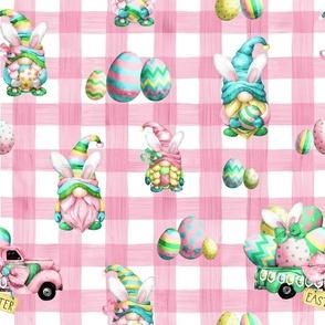 easter egg pink gingham