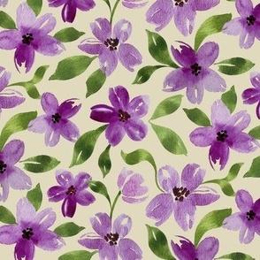 pretty in purple large scale beige