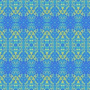 Pointillism yellowblue