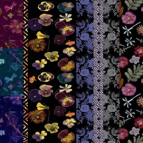 patchwork floral stripe vertical