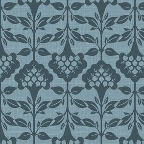 Flora lSilhouette - Large - Blue