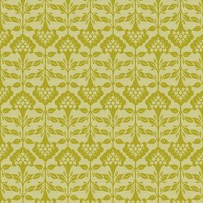 Floral Silhouette - Small - Citron
