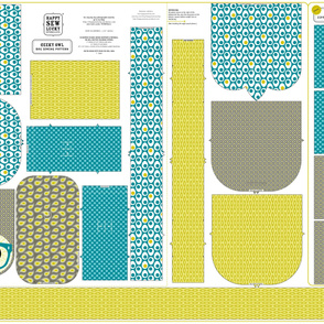 Geeky Owl Bag - TEAL - Linen-Cotton
