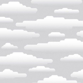 white clouds on gray