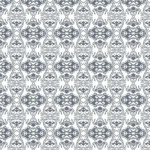 Damask style - grey