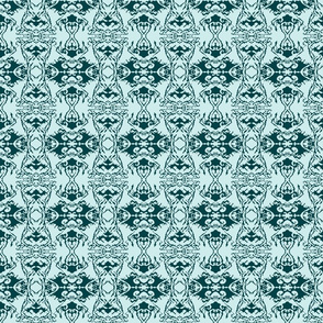 Damask style - sea green
