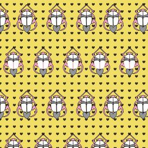 scarabs hearts yellow