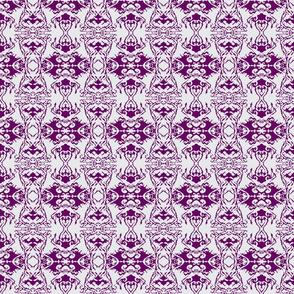 Damask style - plum
