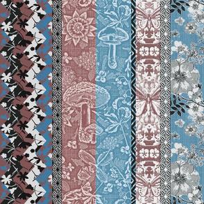 Patchwork Cottagecore blush n blue