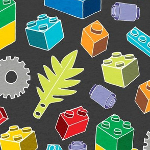 Colourful Building Blocks - Large