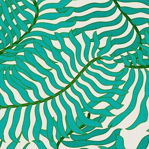 Green Palm Leaves / Large