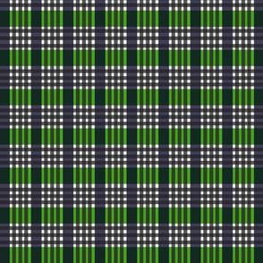Blue Green Stripes  and Checks