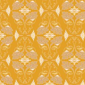 Lady Tropical Yellow Damask