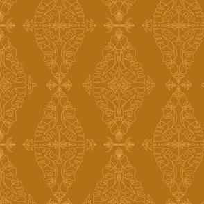 One Line Damask Golden