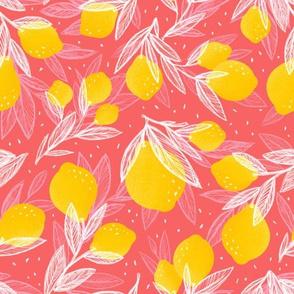 Leafy Lemon Tossed | Pink