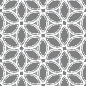 Blossom Mosaic // Gray