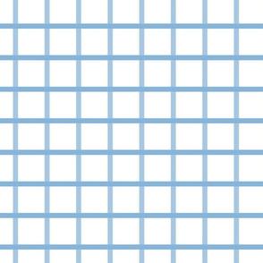 "1""  Windowpane Cyan Blue"