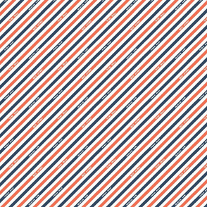 Postal Diagonal Stripe - Red / Navy