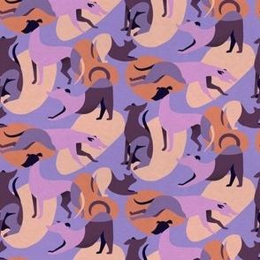 Mod Dogs in Purple and Orange - Medium Scale