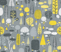 Yellow And Gray Forest
