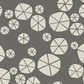 Abstract Gray Circles