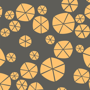 Yellow Circles on Gray Background