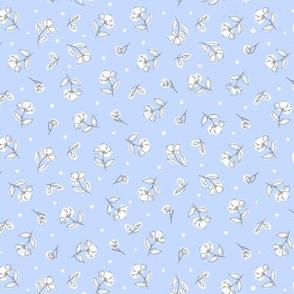 Dainty Florals  (cornflower blue )